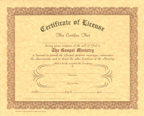 Certificate of ordination deacon template new calendar for Minister license certificate template