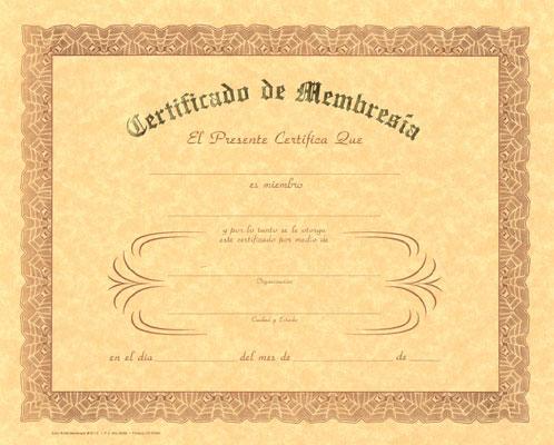 Spanish Certificates
