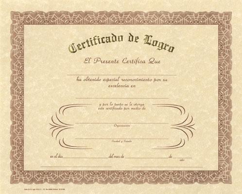 Spanish Certificates 1
